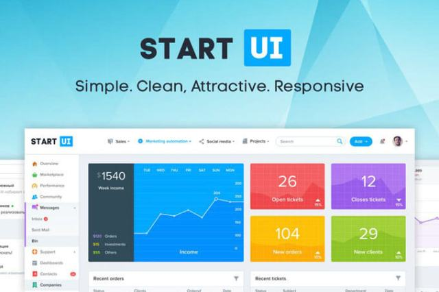 Bootstrap Admin Dashboard UI Templates Download