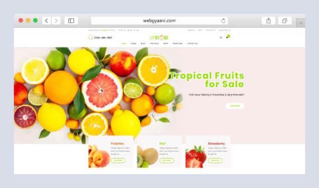 organic store woocommerce wordpress theme