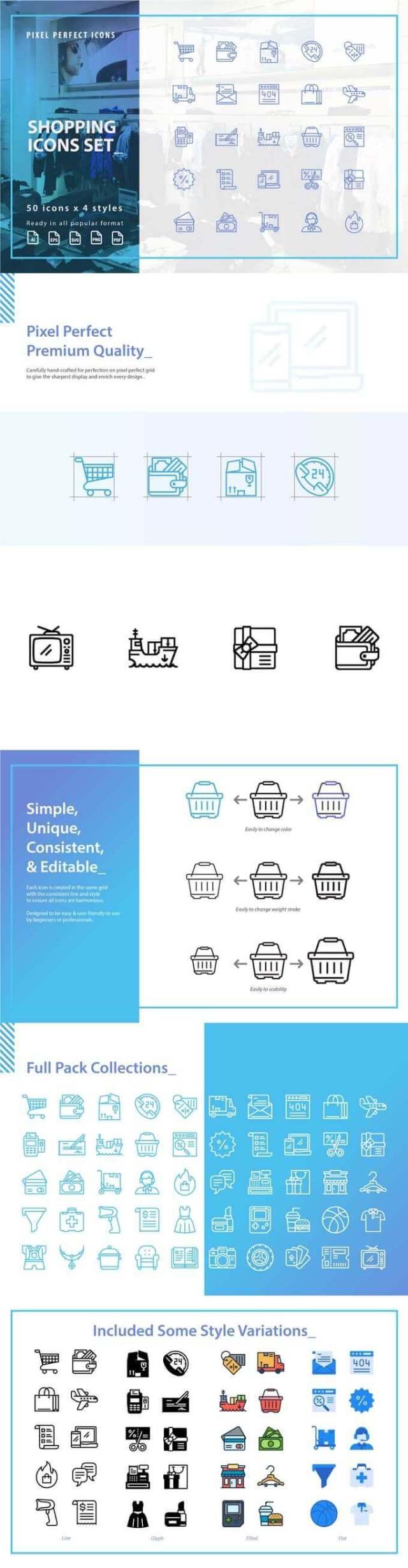 Free Shopping Icons Set
