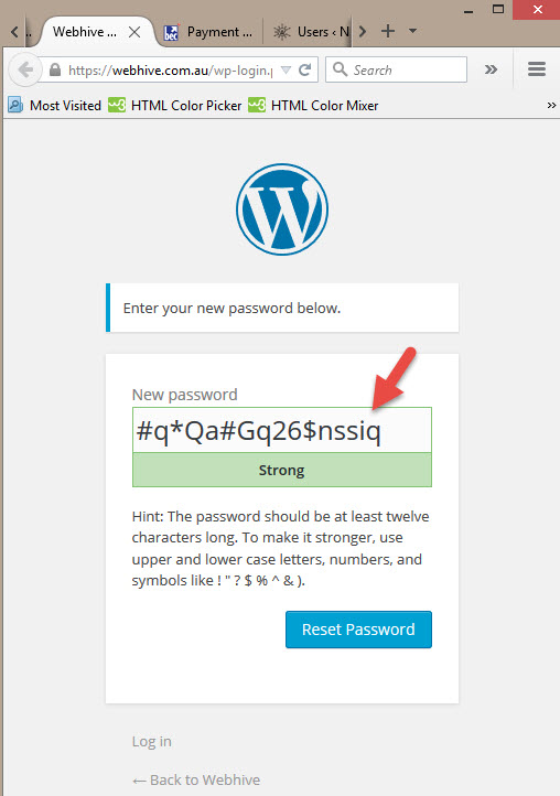 How to change your WordPress password - Here is your WordPress password