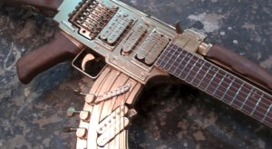 DiResta AK47 Guitar  AKA the GATTAR  YouTube
