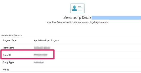Account Apple Developer