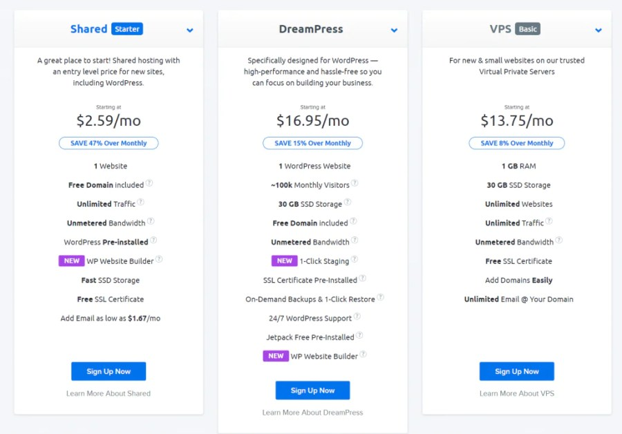 dreamhost plans prices