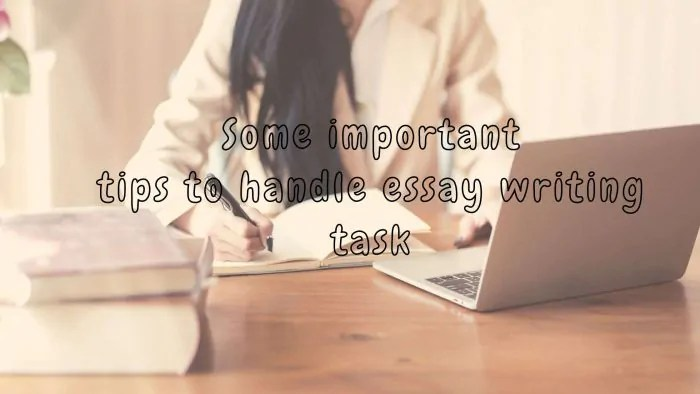 Some important tips to handle essay writing task