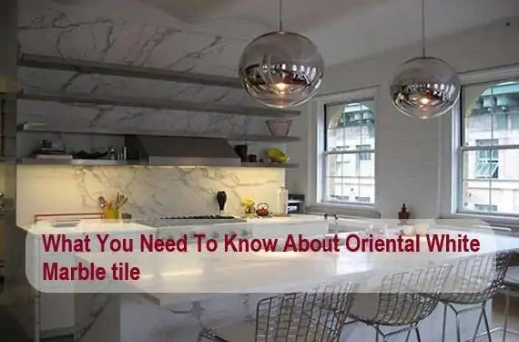 oriental white marble tiles for home