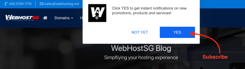 Subscribe to WebHostSG