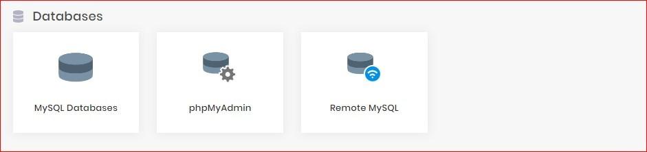 database section