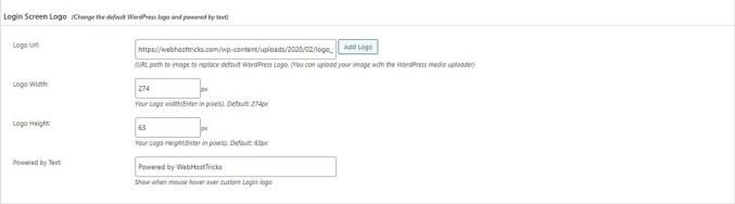 Change WordPress Login Logo