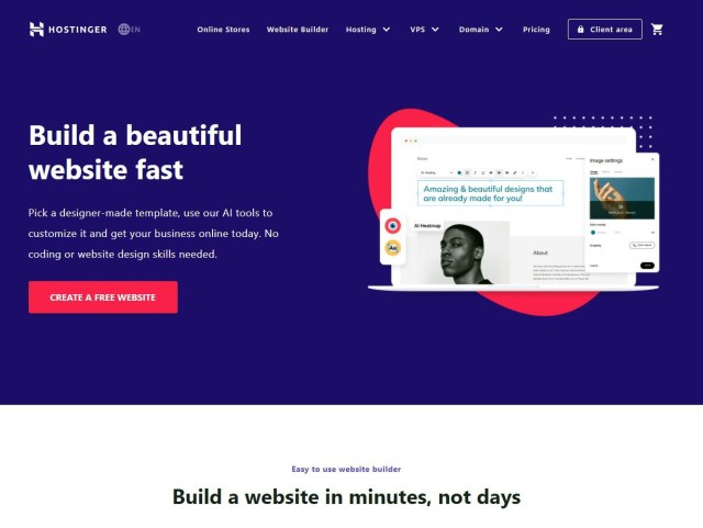 Hostinger website builder