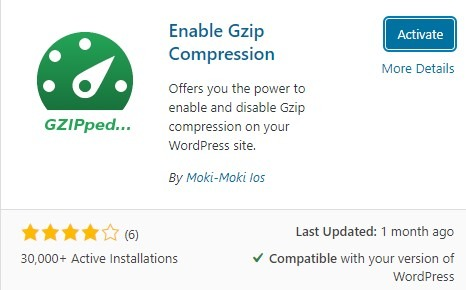 Gzip Compression WP Plugin