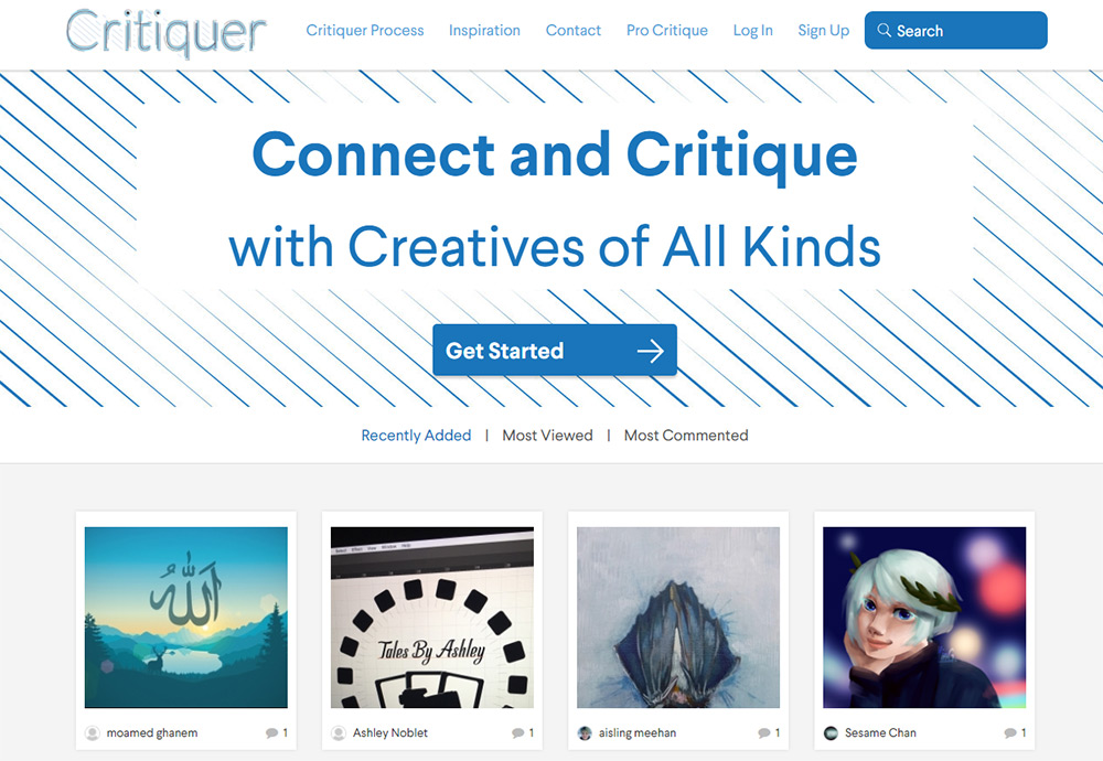 Critiquer homepage