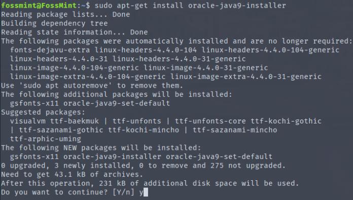 Install Java 9 in Ubuntu
