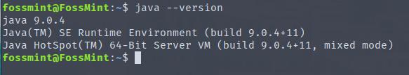 Verify Java Version