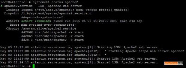 Verify Apache2 Status