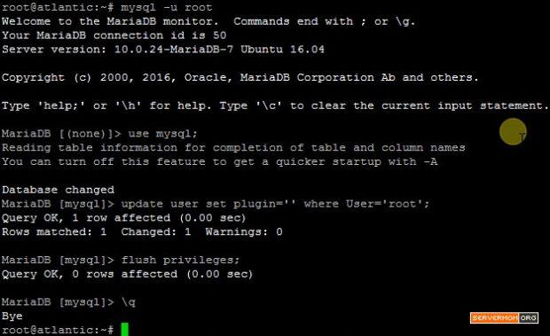 fixing mariadb error ubuntu 1604