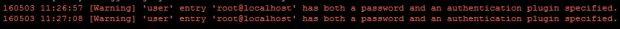 mariadb server error message
