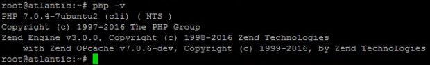 PHP v7.0.4