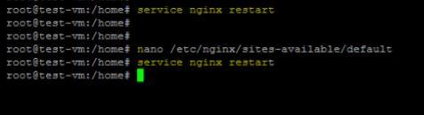 Restart nginx