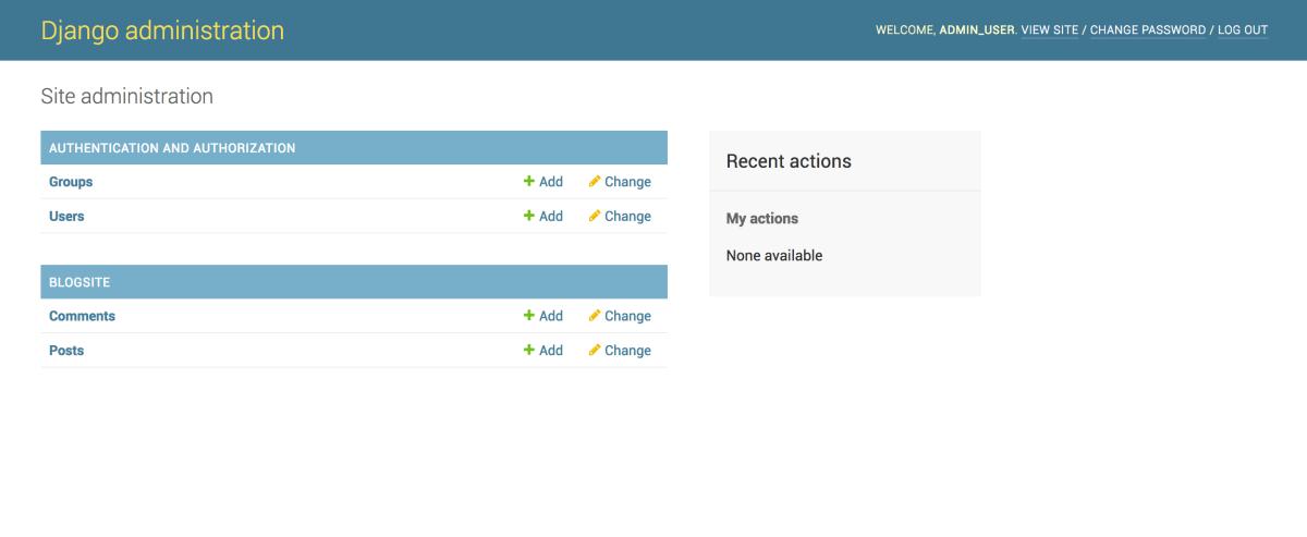 Django Admin Panel with Models Added