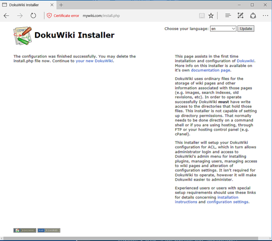 Just how to Install DokuWiki with Apache on Debian 9