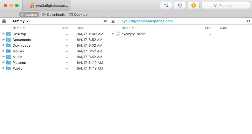 Transmit default file listing