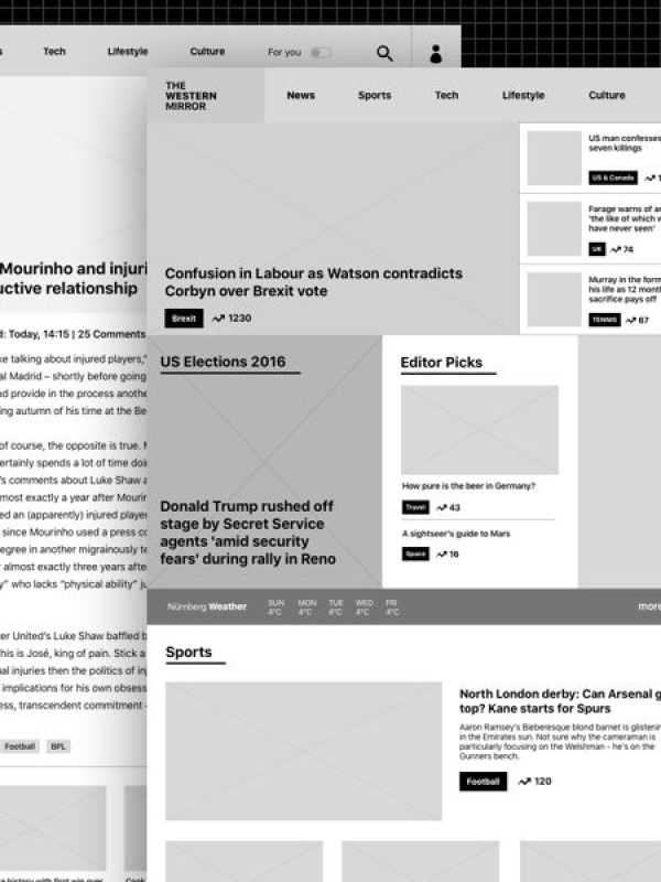 Newspaper Website Wireframe