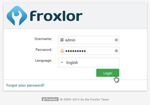 froxlor-login