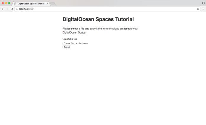 DigitalOcean Spaces Node.js Upload Form