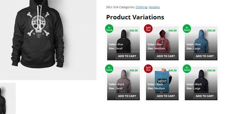 WooCommerce Product Variations Layouts