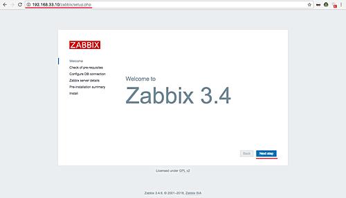 Zabbix setup