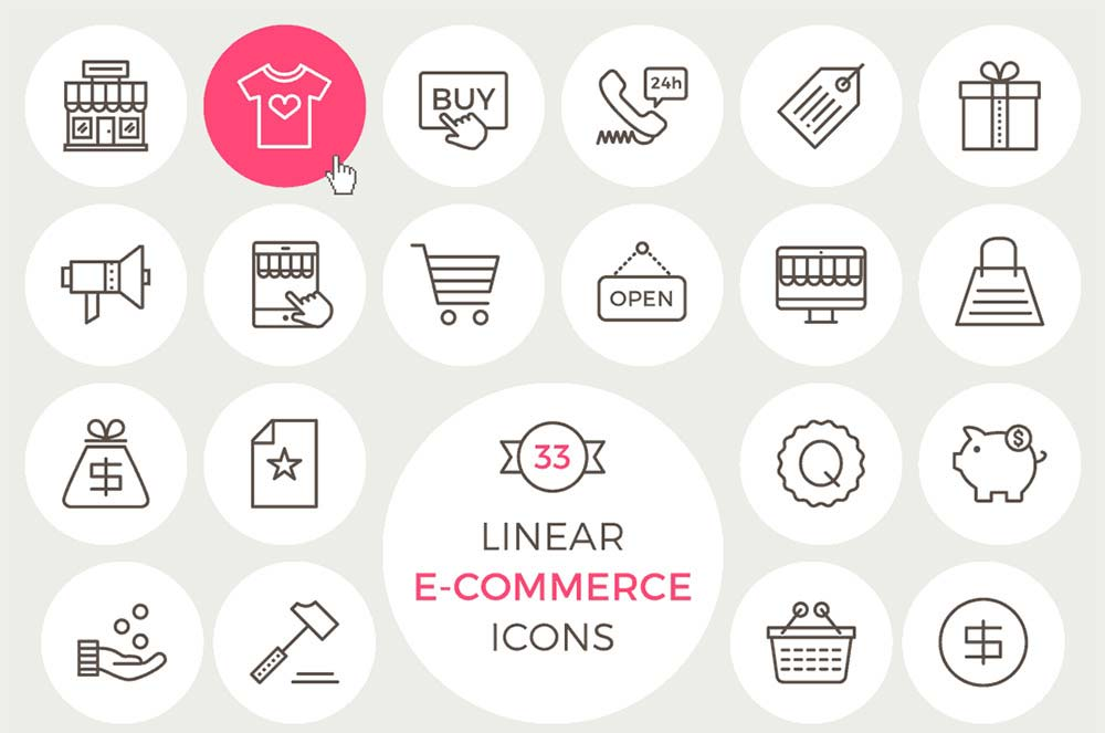 Linear Ecommerce Icons