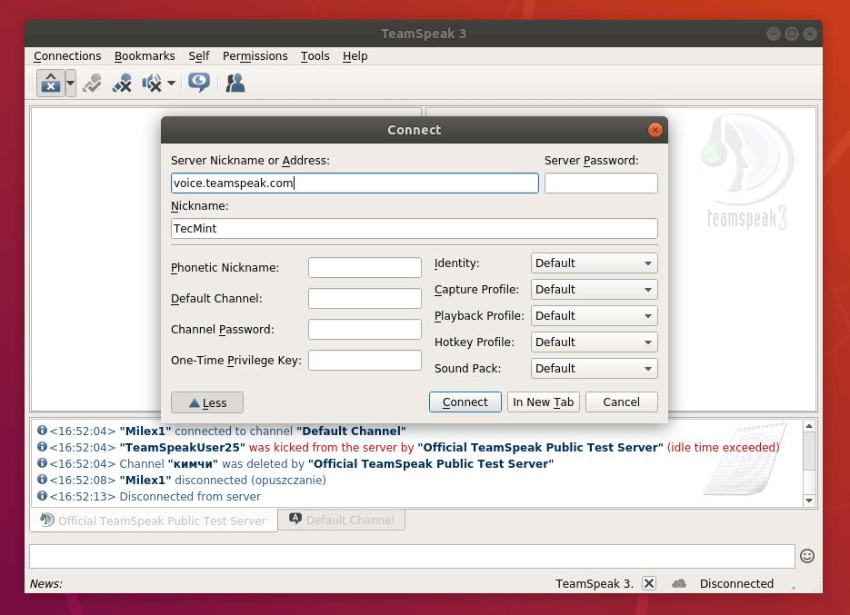 TeamSpeak Client on Ubuntu