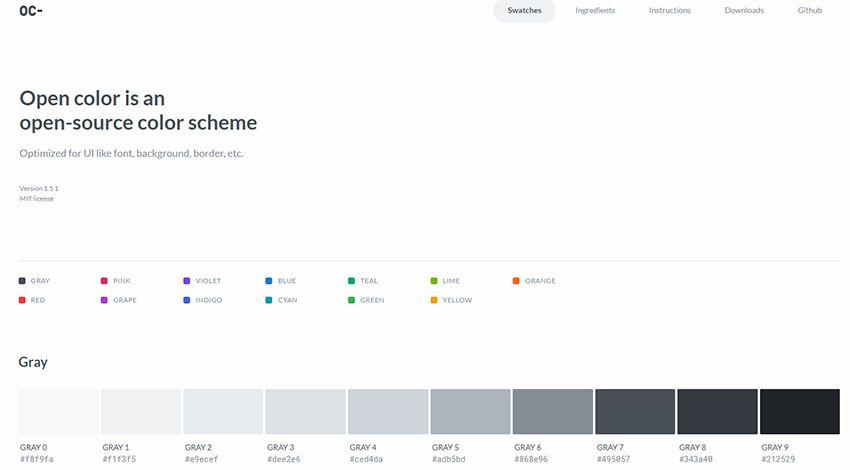 open colors webapp