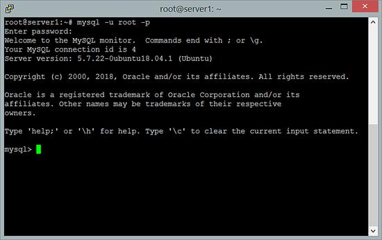 Testing the MySQL root login on Ubuntu 18.04 LTS