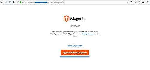 Magento web installer