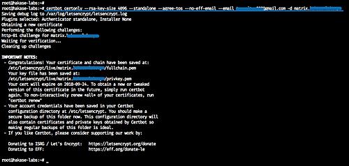 Generate SSL Letsencrypt Certificates