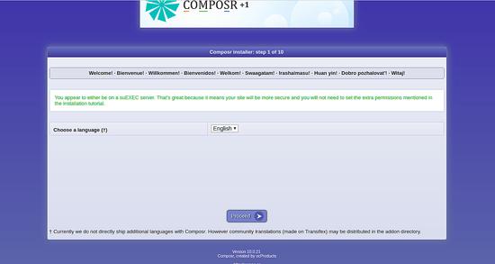 Composr installer page