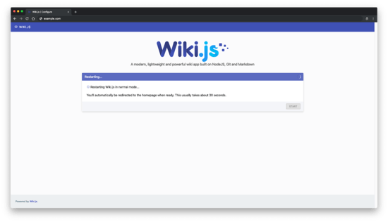 Wiki.js homepage