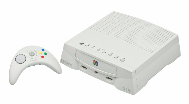 A (not serious) artist's conception of what Google's gaming hardware might look like.