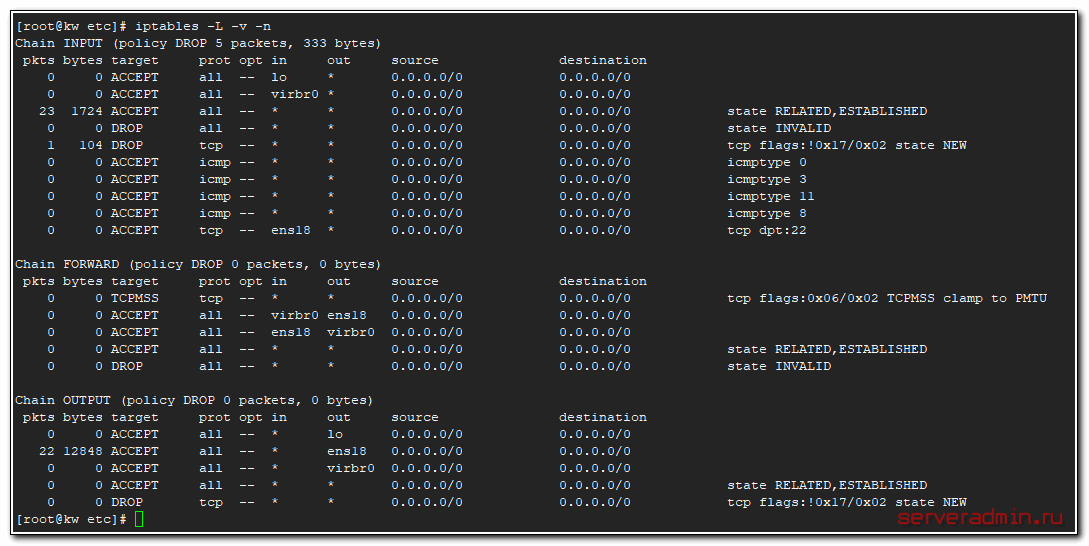 Configuring iptables for lxc host