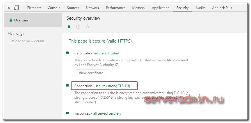 Nginx tls 1.3 on Centos 7