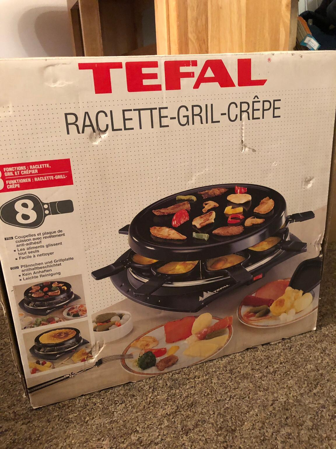 tefal raclette grill crepe
