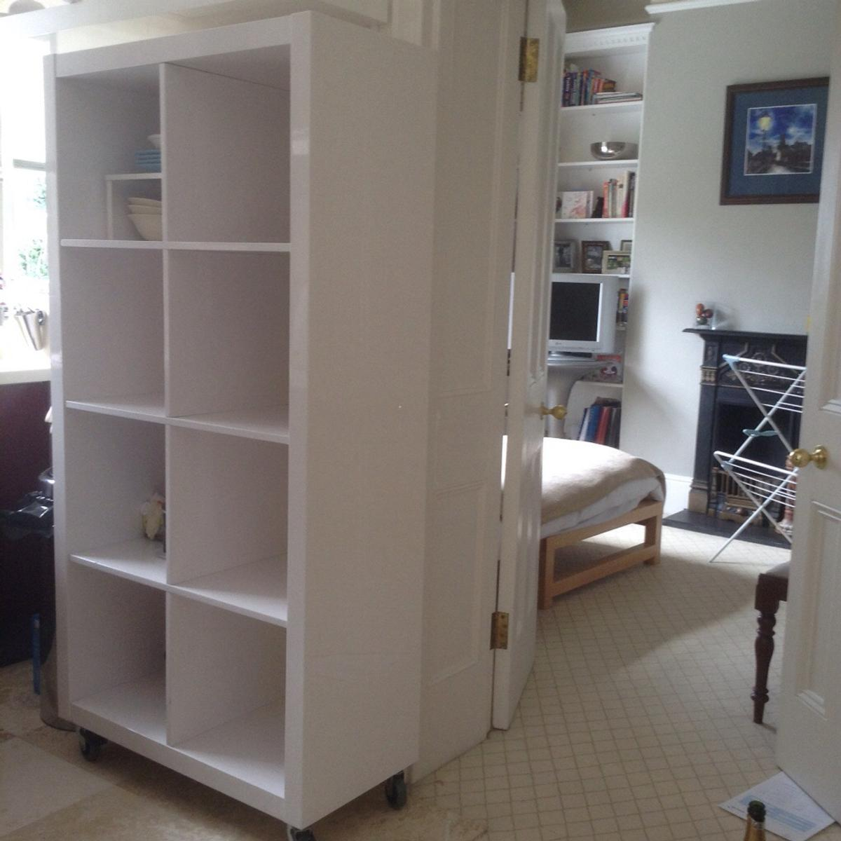 High White Gloss Dwell Bookcase Room Divider