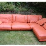 Orange Italian Leather Sofa Dfs California In Hp13 Wycombe For 900 00 For Sale Shpock
