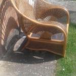 Large Art Deco Wicker Chair