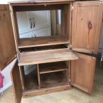 Solid Pine Hideaway Computer Cabinet In Bn14 Arun For 30 00 For Sale Shpock