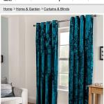 Teal Crushed Velvet Curtains Drop 220 In Wa8 Widnes For 30 00 For Sale Shpock