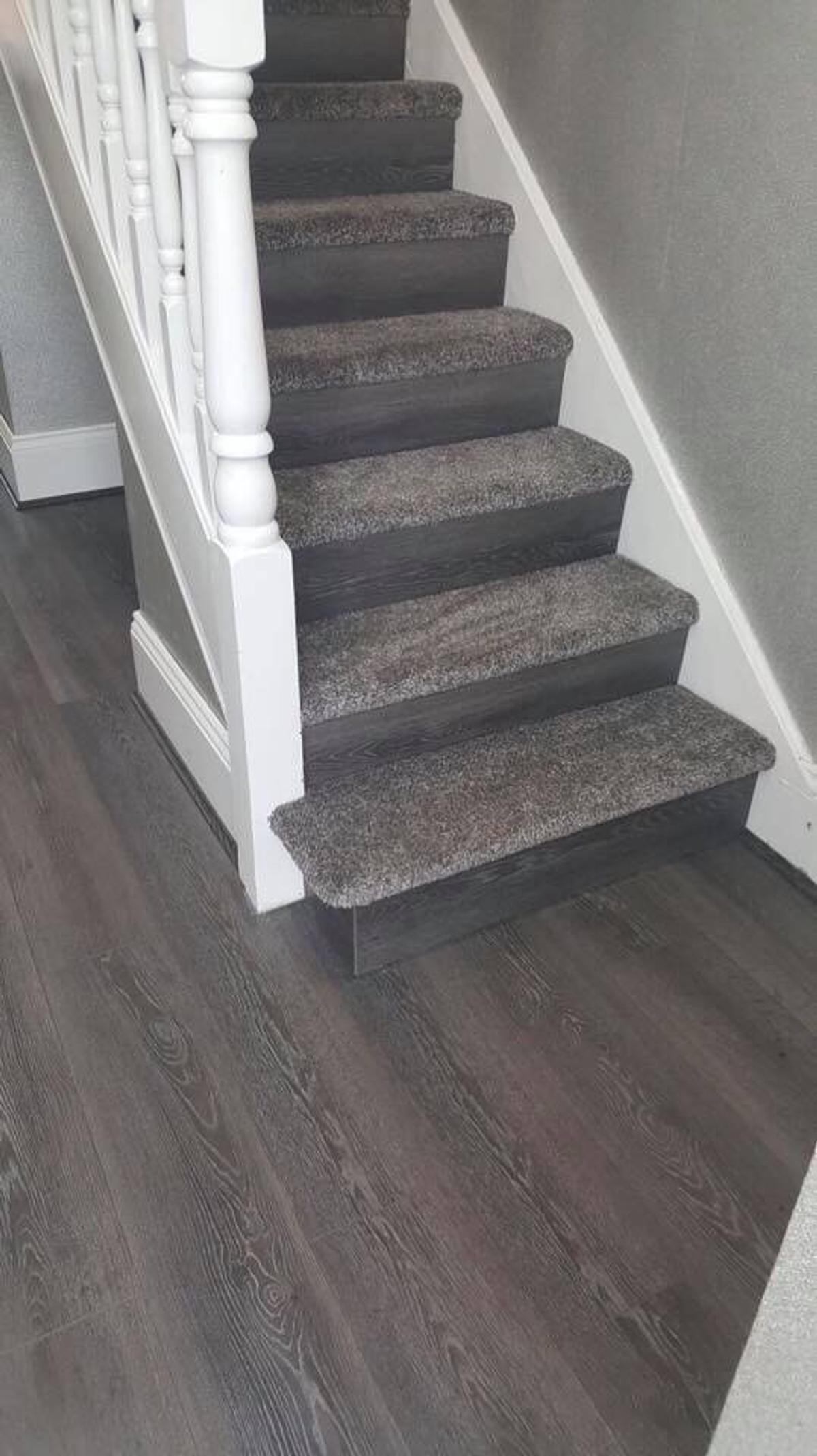 Easipay Carpets Ltd In Humberston For £10 00 For Sale Shpock   Carpet On Stairs Only   Concept   Line Carpet Staircase Double   Pinstripe Grey   Grey   Wood