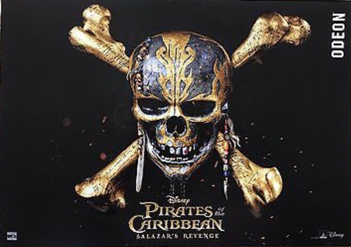pirates of the caribbean rare movie poster