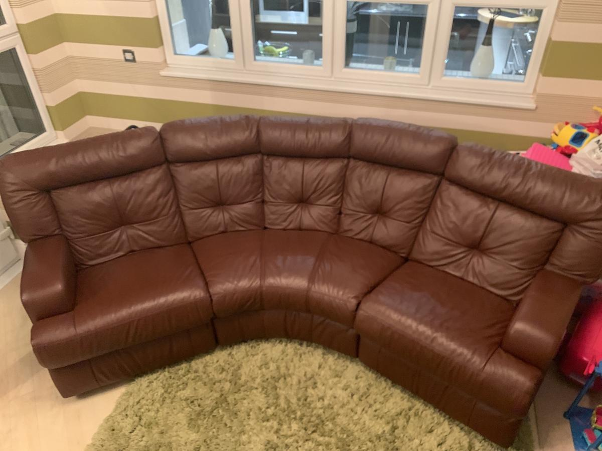 Leather Sofa Couch Settee 2 Recliner Reduced In Wn1 Wigan